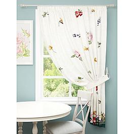 Шторы для кухни Стильный дом Шторы Стильный дом Яркие цветы, 145*180 см шторы море солнце и цветы стильный дом