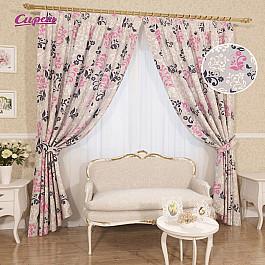 купить Шторы для комнаты Сирень Комплект штор