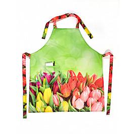 Фартуки Фартук Яркий букет тюльпанов форма для мыла выдумщики букет тюльпанов пластиковая цвет прозрачный