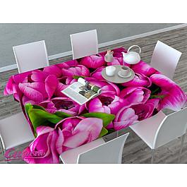Скатерти Сирень Скатерть 3D Розовые тюльпаны, розовая цена