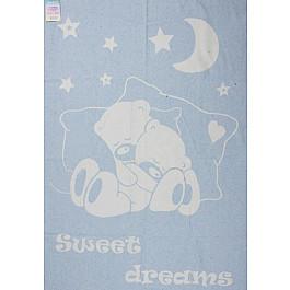 """Одеяло детское """"Сони"""", белый-голубой, 100*140 см"""