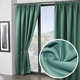 Шторы для комнаты Amore Mio Комплект штор блэкаут однотонный RR BKG-27, бирюзовый, 200*270 см