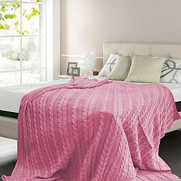 Плед Buenas Noches Плед вязаный хлопок Buenas Noches, розовый, 150*200 см плед dome kappe цвет розовый 150 х 200 см