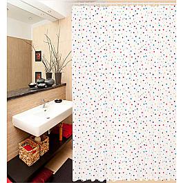 """Штора для ванной """"Цветной горох"""""""