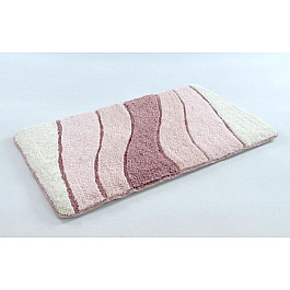 Коврик для ванной WAVE Pembe, розовый, 70x120 см