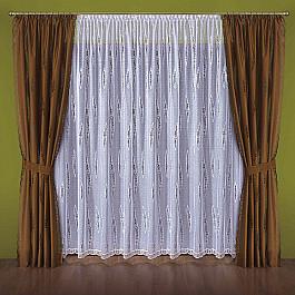 Шторы для комнаты Wisan Комплект штор №030W, коричневый, белый комплект штор wisan цвет коричневый высота 250 см 030w