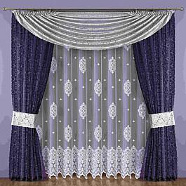 Шторы для комнаты Wisan Комплект штор №183W, фиолетовый, серый цена
