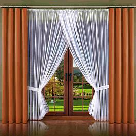 Шторы для комнаты Wisan Комплект штор №100W-04, коричневый