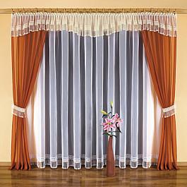 цена на Шторы для комнаты Wisan Комплект штор №5602, оранжевый, кремовый