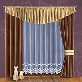Шторы для комнаты Wisan Комплект штор №094W, коричневый, кремовый комплект штор wisan цвет коричневый высота 250 см 030w