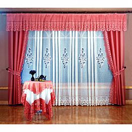 Шторы для комнаты Wisan Комплект штор Офелия №6054, терракотовый цена