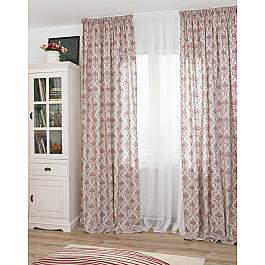 цена на Шторы для комнаты Дельфа Комплект штор Tanit Loneta-12, бордовый (rojo), 160*250 см