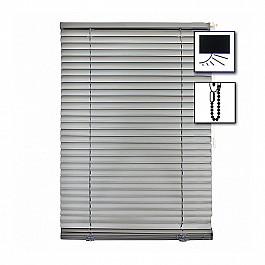 Жалюзи Жалюзи алюминиевые Блэкаут с цепочным механизмом, серебро брокат, ширина 34 см 23955