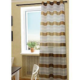 Шторы для комнаты Sanpa Шторы Зебра, светло-коричневый, 145*260 см шторы sanpa классические шторы миа цвет светло серый