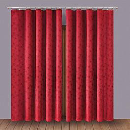 купить Шторы для комнаты Wisan Комплект штор Primavera №1110003, бордо по цене 4394 рублей