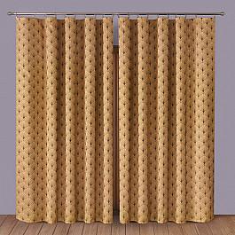 купить Шторы для комнаты Wisan Комплект штор Primavera №1110083, коричневый по цене 4287 рублей