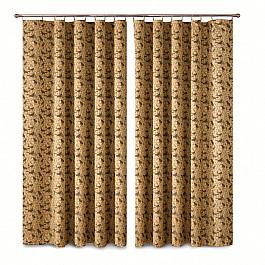 Шторы для комнаты Wisan Комплект штор Primavera №1110090, коричневый комплект штор wisan цвет коричневый высота 250 см 030w