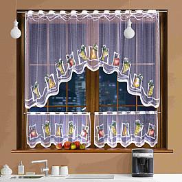 Шторы для кухни Wisan Комплект штор для кухни №3340, белый