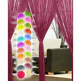 цена на Шторы нити Haft Кисея нитяная штора Haft, бордовый, 250*200 см