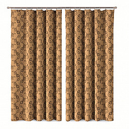 купить Шторы для комнаты Wisan Комплект штор Primavera №1110080, коричневый по цене 4210 рублей