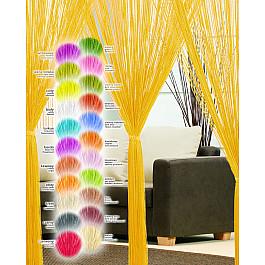 Шторы нити Haft Кисея нитяная штора Haft, желтый, 250*200 см цена