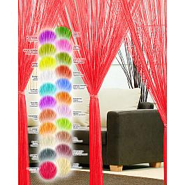 Шторы нити Haft Кисея нитяная штора Haft, красный, 250*200 см цена