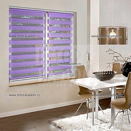 """Рулонная штора """"День-ночь Фиолетовый"""", ширина 68 см (409-72(68) ), фото 1"""