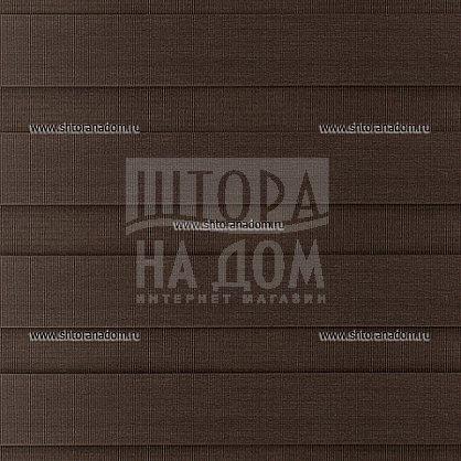 """Рулонная штора """"День-ночь Темно-коричневый"""" (406-gr), фото 5"""
