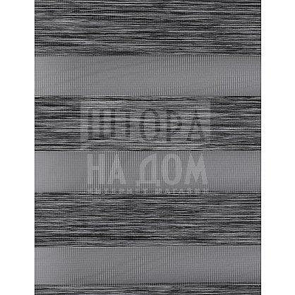 """Рулонная штора """"День-Ночь Сантайм Натур Графит"""" (4306-gr), фото 8"""