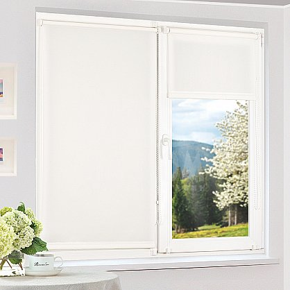 "Рулонная штора ""Сантайм уни Белый"", ширина 95 см (100-99(95)), фото 1"