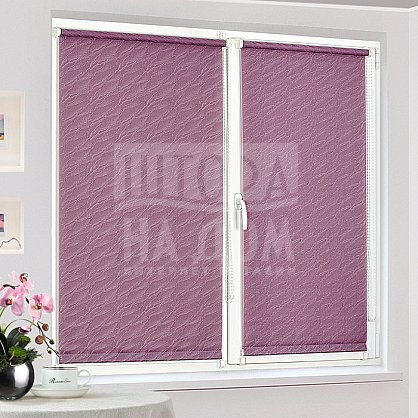 "Рулонная штора ""Сантайм-жаккард Веда Фиолетовый"", ширина 73 см (879-77(73)), фото 2"