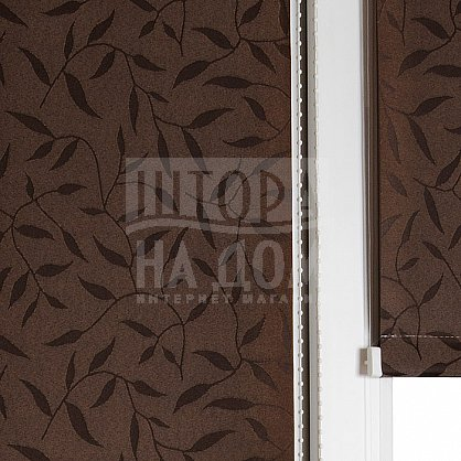 "Рулонная штора ""Сантайм-жаккард Оливия Шоколад"", ширина 52 см (8261-56(52)), фото 3"