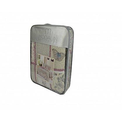 "Покрывало ""MODALIN"" пэчворк двухсторонний с наволочками, v8, 230*250 см-A (kr-5022-CHAR014-A), фото 4"