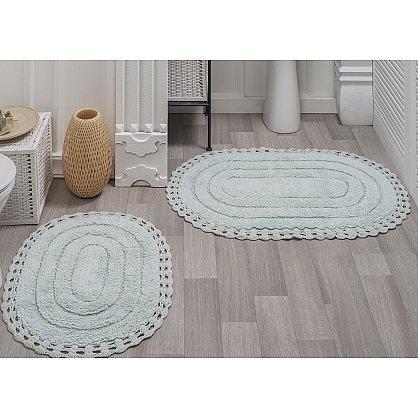 "Набор ковриков для ванной кружевной ""MODALIN YANA"" (60x100; 50x70), кремовый (kr-5026-CHAR002), фото 2"