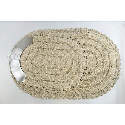 "Набор ковриков для ванной кружевной ""MODALIN YANA"" (60x100; 50x70), кремовый (kr-5026-CHAR002), фото 4"
