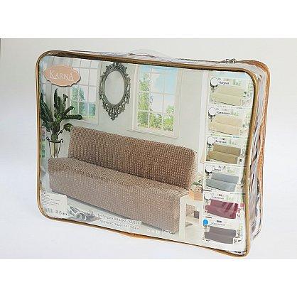 """Чехол для дивана """"KARNA"""" двухместный без подлокотников, без юбки, бордовый-A (kr-101215-A), фото 2"""