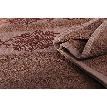 """Простынь махровая """"KARNA REBEKA"""", коричневый (kr-200221-gr), фото 4"""