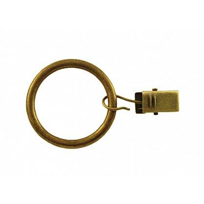 Комплект колец для металлического карниза, золото антик, диаметр 16(19) мм, № 4 (df-100018), фото 2