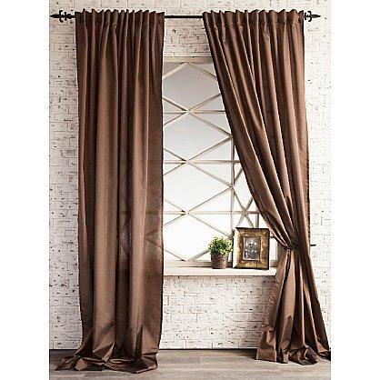 Комплект штор ЛОРИ, коричневый, 240*250 см (bl-01-113-09 LXL25), фото 1