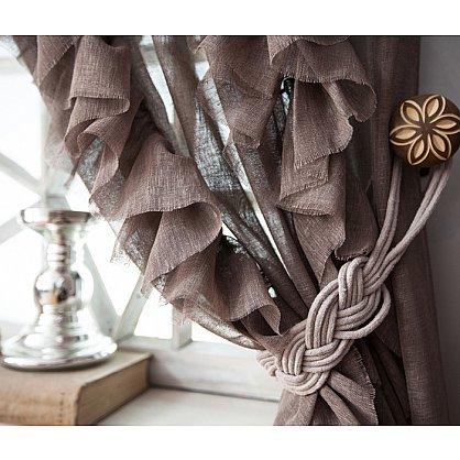 Комплект штор ИВИ, коричневый, 200*250 см (bl-01-202-02 LXL25), фото 2