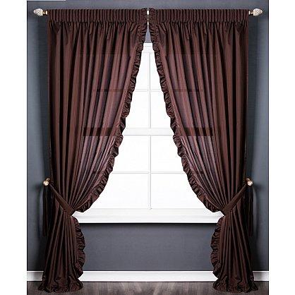 Комплект штор ОЛЛА, коричневый, 240*270 см (bl-01-203-02 LXL27), фото 1