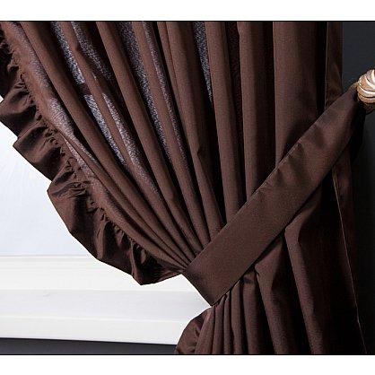 Комплект штор ОЛЛА, коричневый, 240*270 см (bl-01-203-02 LXL27), фото 2