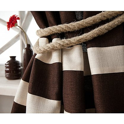 Комплект штор ТЕРРИ, коричневый, 200*270 см (bl-01-204-02 LXL27), фото 2