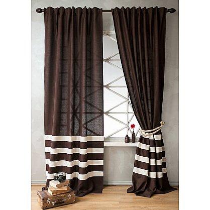Комплект штор ТЕРРИ, коричневый, 200*250 см (bl-01-204-02 LXL25), фото 1