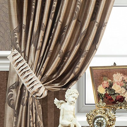 Комплект штор LOUVRE, коричневый, 170*270 см (bl-01-27-01 ML27), фото 2
