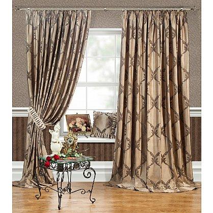 Комплект штор LOUVRE, коричневый, 170*270 см (bl-01-27-01 ML27), фото 1