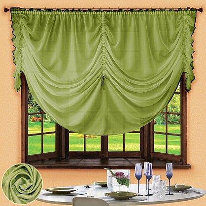 Шторы для кухни №049 Зеленый (rt-049003), фото 1
