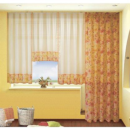 Комплект штор №060 Лилии (оранжевый) (rt-060001), фото 1