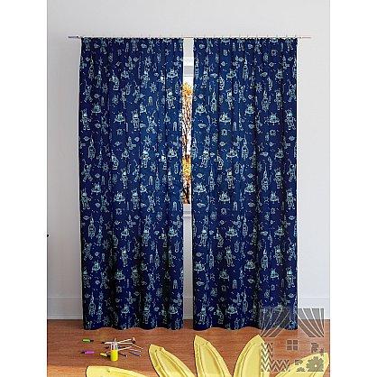 "Комплект штор ""Каскат-К"", синий, 260 см (233800-t), фото 2"