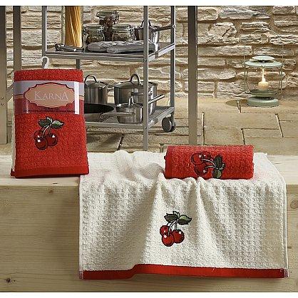 "Набор кухонных полотенец ""KARNA LEMON"" Красный, v2, 45*65 см - 2 шт (kr-100578), фото 1"
